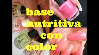 BASE NUTRITIVA CON COLOR PARA Uñas / NAILS CARE