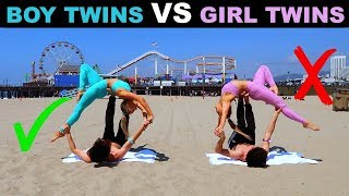 TWiN BOYS vs TWiN GiRLS Extreme YOGA CHALLENGE