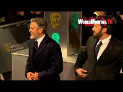 Ben Affleck, George Clooney, Bradley Cooper and Argo team at 2013 BAFTA Awards