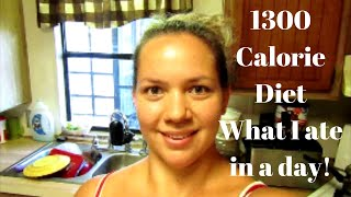 Full Day of Eating//1,300 Calorie Diet for Weight Loss. Low Calorie Meal Ideas.