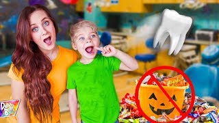 LOST TOOTH AT DENTIST! (Halloween CANCELED?! 🎃🚫)