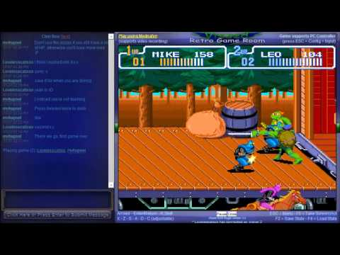 Teenage Mutant Ninja Turtles IV - Turtles in Time - Netplay Session - Teenage Mutant Ninja Turtles IV / Turtles in Time (SNES) - User video