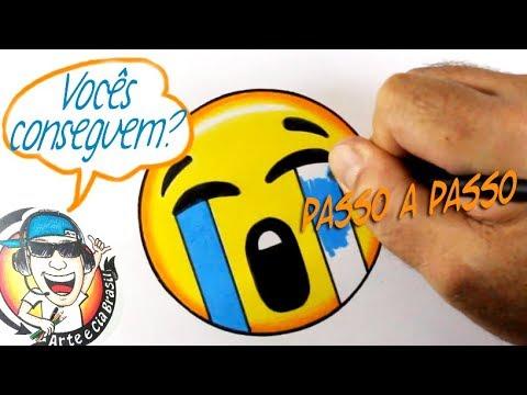 COMO DESENHAR EMOJI CHORANDO - HOW TO DRAW EMOJI CRYING