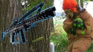 Full Auto Tippmann A5 Shoots Clown 75 times! Funny Paintball Gun Sniper Video
