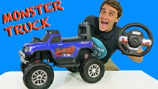 Ride On RC Monster Truck ! || Toy Review || Konas2002
