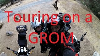Touring on a Honda Grom. California coast run, top speed run, and moto camping trip.