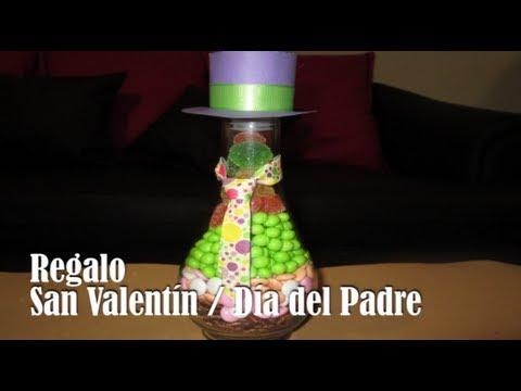 Regalo san valent n d a del padre botella con dulces - Dulces de san valentin ...