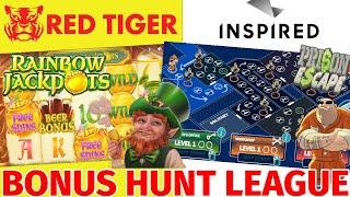 BONUS HUNT LEAGUE - Online Slots Bonus Hunt - INSPIRED GAMING and RED TIGER - 5 BONUSES ON EACH
