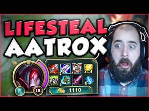 HOW BUSTED IS 70% LIFESTEAL ON AATROX? LIFESTEAL AATROX TOP GAMEPLAY SEASON 7! - League of Legends