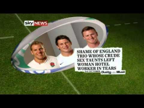 England Rugby Team Return Home