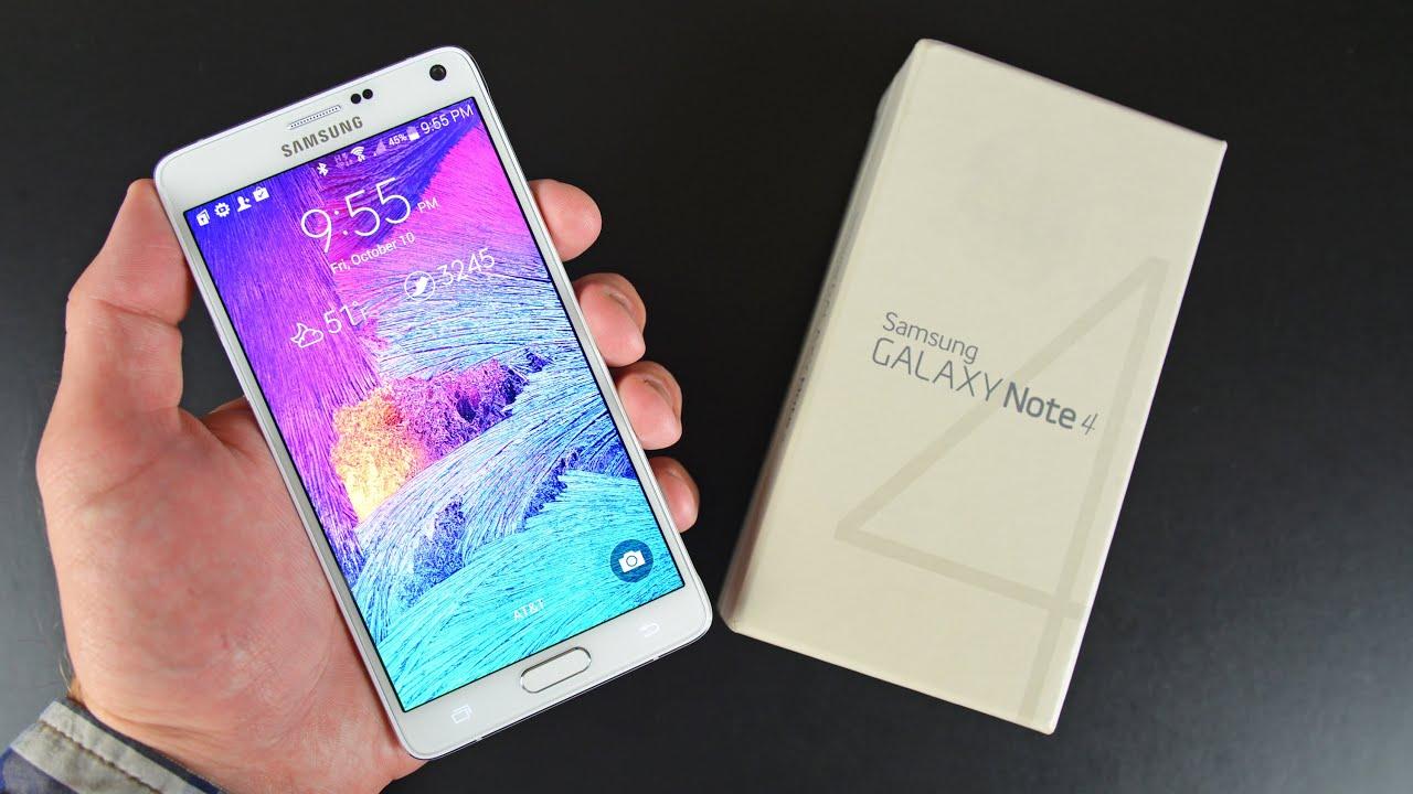 White Samsung    Galaxy Note 4