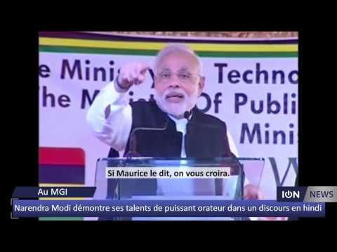 Narendra Modi démontre ses talents de puissant orateur dans un discours en hindi