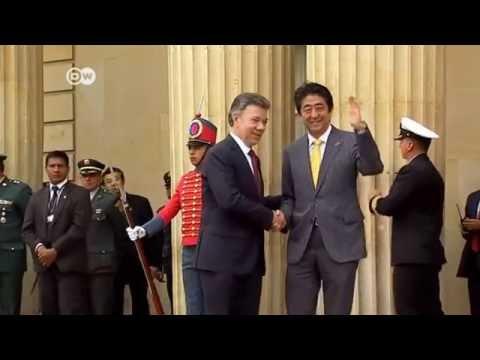 Primer ministro japonés, Shinzo Abe, visita Colombia