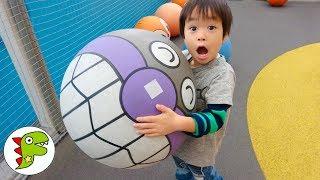おでかけ 福岡アンパンマンこどもミュージアム!アンパンマン顔ボールで遊ぼう! トイキッズ