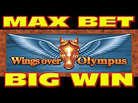 Wings Over Olympus MAX BET & RETRIGGER Slot Machine BIG WIN