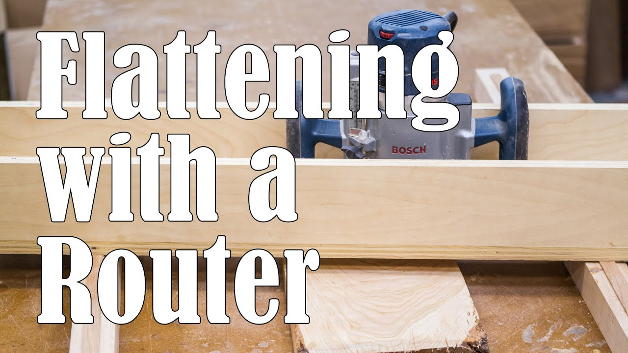 Flattening Boards with a Router Sled - YouTube