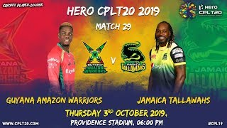Match 29 Highlights | #GAWvJT | #CPL19