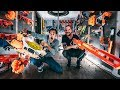 NERF WAR INSIDE WORLDS LARGEST $45,000.00 FORTRESS with Zach King!