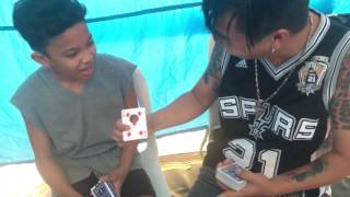 JEFFREY TAM Card trick with AWRA BRIGUELA