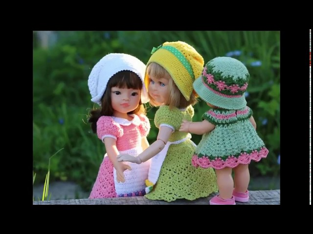 Вязание крючком для кукол. Наряд Садовница