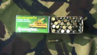 22lr RIMFIRE RIFLE SHOOTING HIGH VELOCITY REMINGTON YELLOW JACKET AMMO REVIEW.