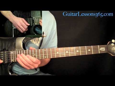 Nothin But A Good Time Guitar Lesson Pt.2 - Poison - Guitar Solo & Outro Solo