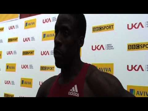 Aviva 2012 Trials - Dwain Chambers 100m Mens Heat 2