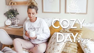Cozy day at home | Creating balance, healthy breakfast & painting