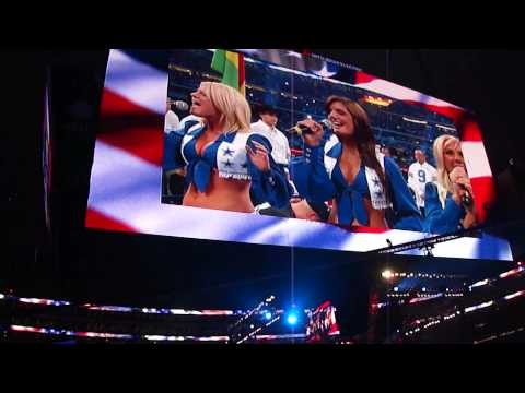 Dallas Cowboys Cheerleaders singing the National Anthem