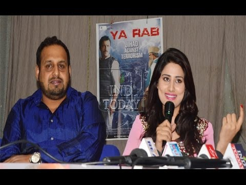 """Ya Rab""  Actress Arjumman Mughal addressing Media in hyderabad to promote their film"