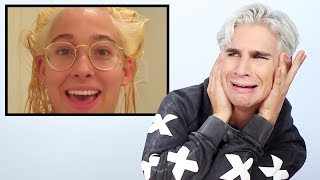 Hairdresser Reacts to Joana Ceddia Bleach Fail