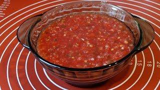 Аджика. Очень Вкусная, Сырая Аджика из Помидор. Рецепт без варки/Adjika from tomatoes