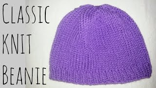 Classic Fitted Beanie | Knit Pattern | Knitting Tutorial