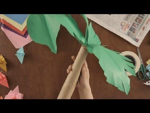 Como hacer palmas de papel imagui - Como hacer una palmera artificial ...