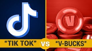 Tik Tok vs V-Bucks - Google Trends Show