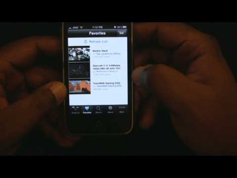 Justin.TV iPhone App Review