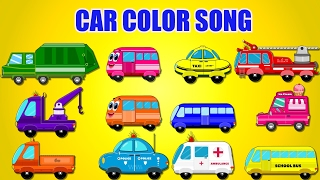 Learn Colors with Street Vehicles | Cars for Kids toddlers | Nursery Rhymes | Car Color Song