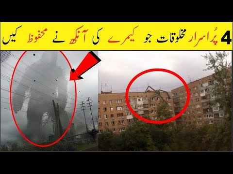 4 Mysterious Creatures Captured by Camera  Urdu/Hindi