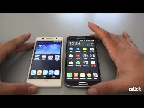 Galaxy S4 vs Huawei Ascend P6 da Callr.it