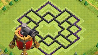 Clash of Clans - TH8 Hybrid Base (Remade w/ new AirSweeper)