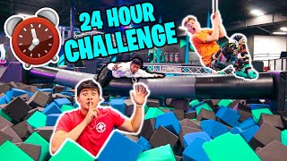 24 HOUR OVERNIGHT CHALLENGE in TRAMPOLINE PARK!! (ft. Jack Doherty)