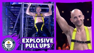 Fastest 7 m explosive pull up ascent (Salmon Ladder) - Guinness World Records Italian Show