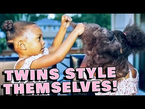 TWINS LEARN TO STYLE EACH OTHER'S HAIR | TUTORIAL