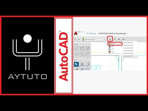 Convertir archivos de versiones nuevas de AUTOCAD a formato de versiones antiguas