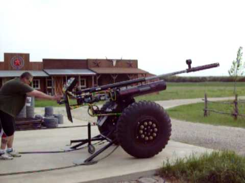 Huge Compressed Air And Acetylene Injected Potato Cannon 2