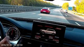 PP-Performance Audi RS6 750HP and porsche 991Turbo S 750HP german Highway