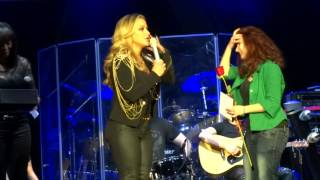Mirela Lilova on stage with Anastacia | Sofia - Resurrection tour