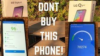 LG STYLO 4 vs LG Q7 Plus - HIGH PERFORMANCE BENCHMARK TEST!