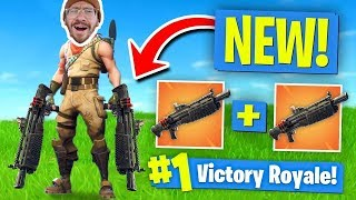 NEW DOUBLE HEAVY SHOTGUN GAMEPLAY!! FORTNITE BATTLE ROYALE WITH TEAM ALBOE!!