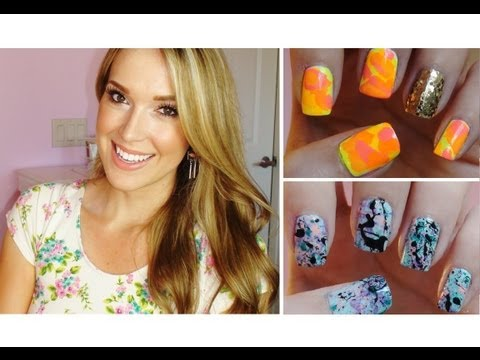 DIY: Nail Art Using A Straw!!!